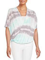 Young Fabulous And Broke Draped Tie Dye Blouse Multi