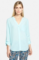 Trouve Silk Blouse Blue