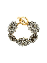Oscar De La Renta Jeweled Bracelet Metallic