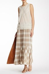 Johnny Was Plaid Embroidered Maxi Skirt Multi