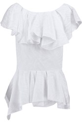 Chalayan Valance Ruffled Voile Top White