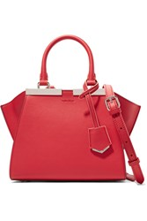 Fendi 3Jours Small Leather Shoulder Bag Red
