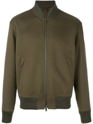 Jil Sander Zipped Bomber Jacket Green