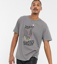 Heart And Dagger Scoop Neck T Shirt With Print White