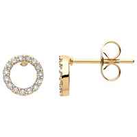 Estella Bartlett Cubic Zirconia Open Circle Stud Earrings Gold