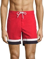 Lacoste Colorblock Swim Shorts Red