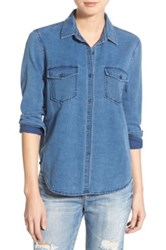 Joe's Jeans Brisa Button Up Shirt Blue