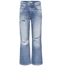 Grlfrnd Linda Cropped High Waisted Jeans Blue
