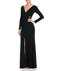 Dylan Gray Illusion Inset Gown Black