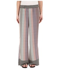 Bobeau Printed Palazzo Pants Mixed Print Women's Casual Pants Multi
