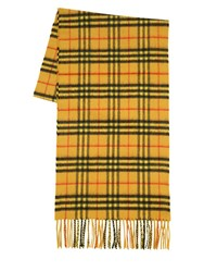 Burberry Check Cashmere Scarf Yellow