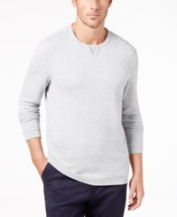 Tasso Elba Men's Geometric Jacquard T Shirt Created For Macy's Sterling Heather