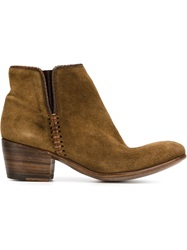 Alberto Fasciani Stitch Detail Ankle Boots Nude And Neutrals