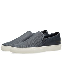 Common Projects Slip On Leather Perforated Blue