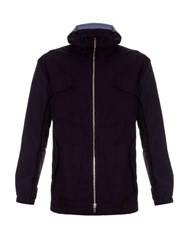 Tim Coppens Patch Pocket Cotton Hooded Jacket Navy