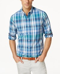 Club Room Norfolk Plaid Long Sleeve Shirt Only At Macy's