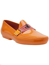 Vivienne Westwood 'Orb' Moccasin Yellow And Orange