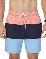Nautica Quick Dry Color Block Swim Trunks Pale Coral