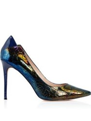 Lucy Choi London Xenia Patent Heels Navy