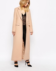 Supertrash Oxford Maxi Coat In Camel