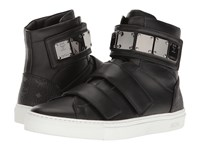 Mcm High Top W Brass Plate Detail Black Men's Shoes
