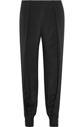 Haney Alice Cutout Silk Crepe De Chine Tapered Pants Black