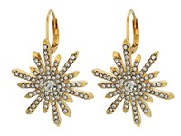 Vince Camuto Leverback Drop Earrings Gold Crystal Earring