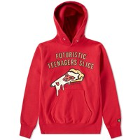 Human Made Pizza Hoody Red