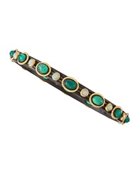 Armenta Green Onyx And Opal Bangle Bracelet