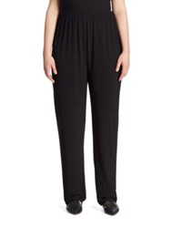 Caroline Rose Slim Jersey Pants Black