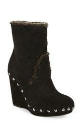 Stuart Weitzman Women's Infur Genuine Shearling Wedge Bootie