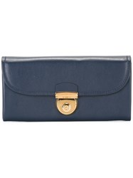 Salvatore Ferragamo 'Fiamma' Wallet Blue