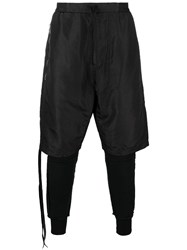 Unravel Project Layered Trousers Black