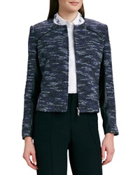 Magaschoni Leather Trim Boucle Jacket 4