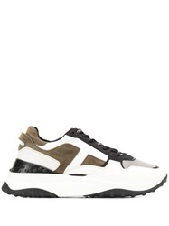 Tod's Panelled Low Chunky Sneakers Grey