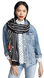 Rebecca Minkoff Love Birds Oblong Scarf Black