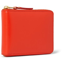 Comme Des Garcons Zip Around Leather Wallet Orange