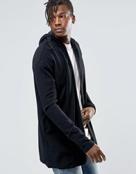 Pull And Bear Pullandbear Hooded Cardigan In Black Black