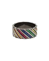 Lana Electric Rainbow Sapphire Band Ring In 14K Black Gold Black Gold