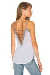 Chaser Strappy V Back Cami White