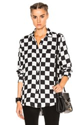 Adaptation Big Check Shirt In Black White Geometric Print Black White Geometric Print