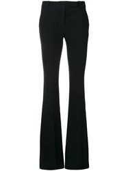 Alexander Mcqueen Flared Tailored Trousers Black