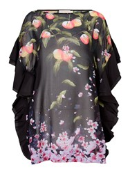 Ted Baker Peach Blossom Cover Up Black