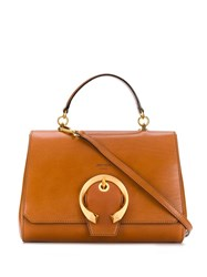 Jimmy Choo Madeline Top Handle Bag Brown