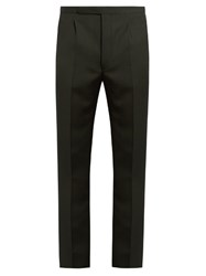 Raf Simons Slim Fit Wool Trousers Green