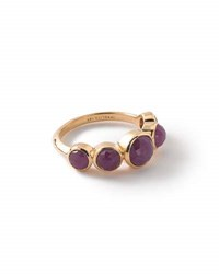 Ippolita 18K Lollipop 5 Stone Bezel Ring In Composite Ruby Red