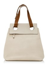 Marni Leather Shopping Bag Brown