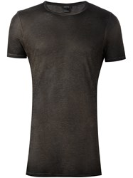 Avant Toi Crew Neck T Shirt Brown