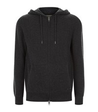 Burberry Cashmere Hoodie Male Charcoal