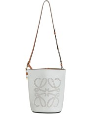 Loewe Gate Anagram Leather Bucket Bag Kaolin